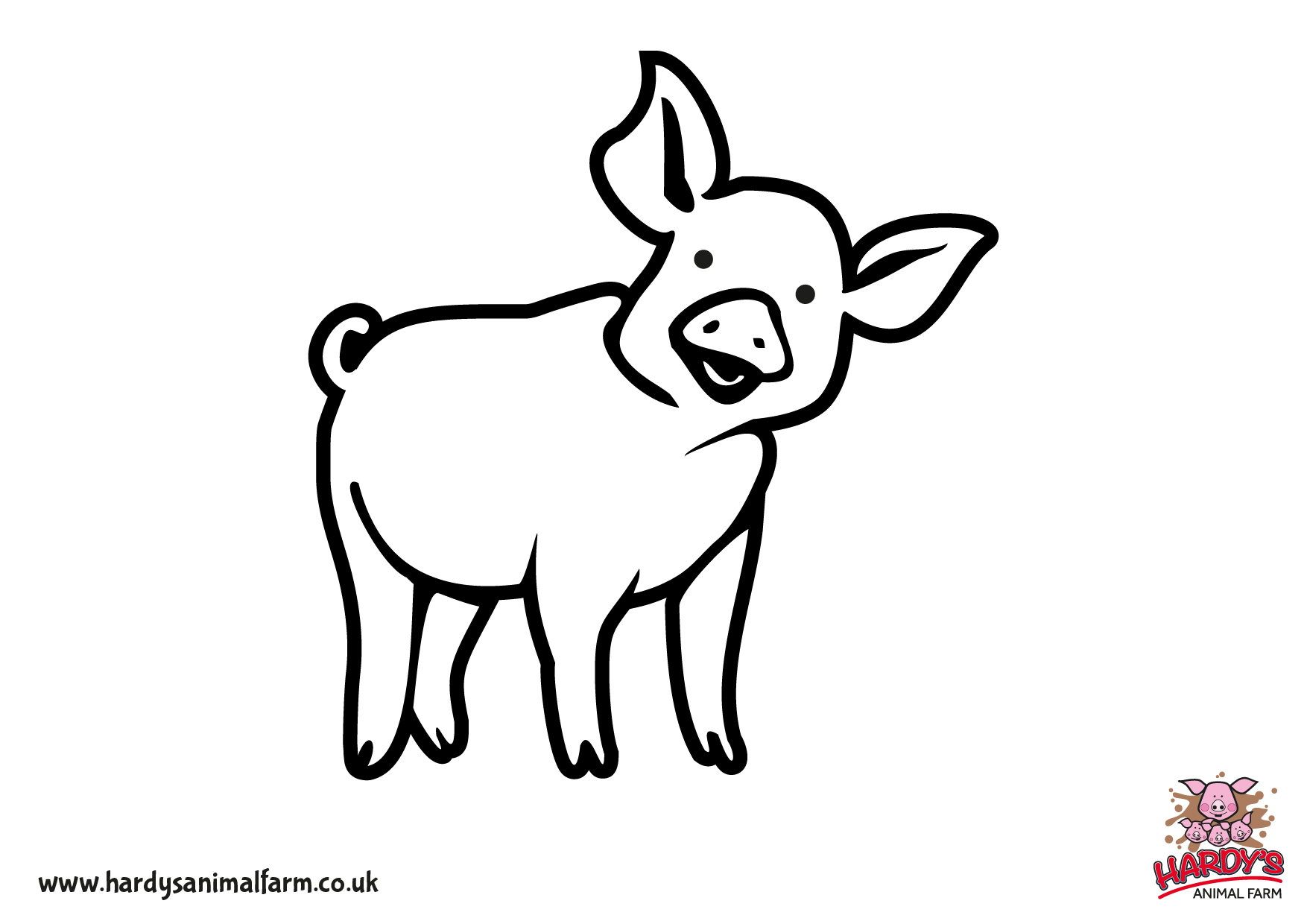 Childrens animal colouring pages - Colour In Your Favourite Animals From Hardys Animal Farm With These Free Pages To Download And Print