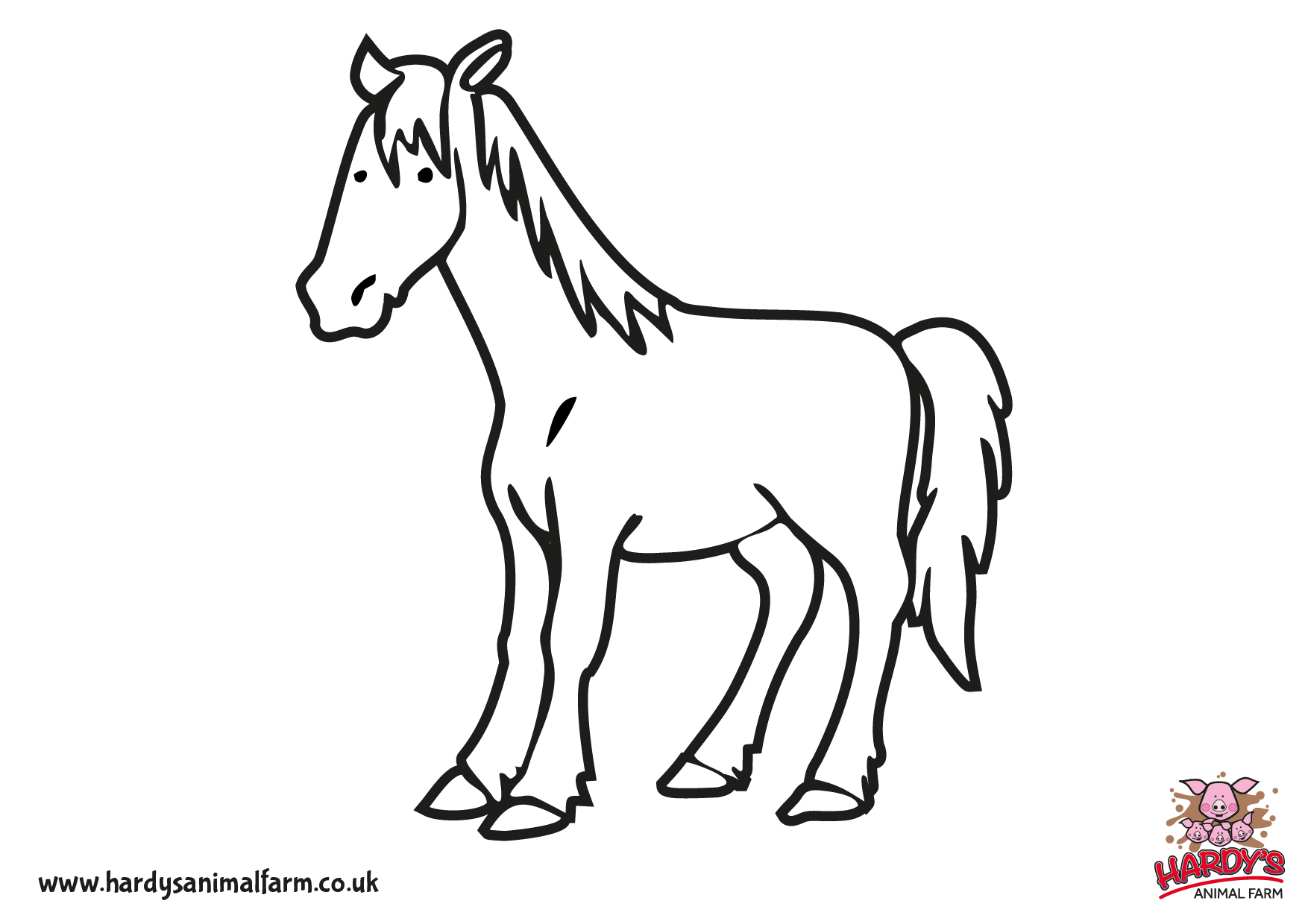 colour in your favourite animals from hardys animal farm with these free pages to download and print - Colouring In Pics