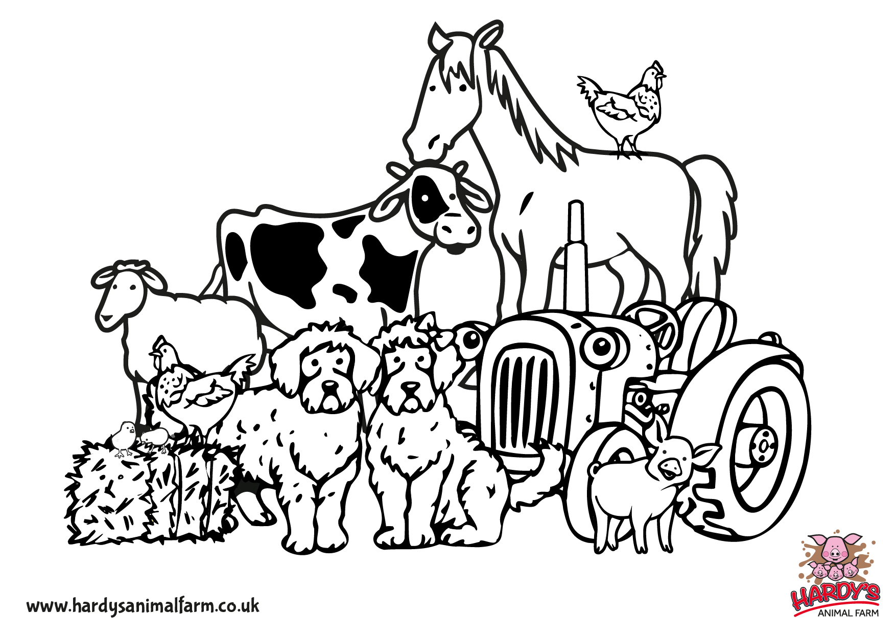 colouring pages hardys animal farm. Black Bedroom Furniture Sets. Home Design Ideas